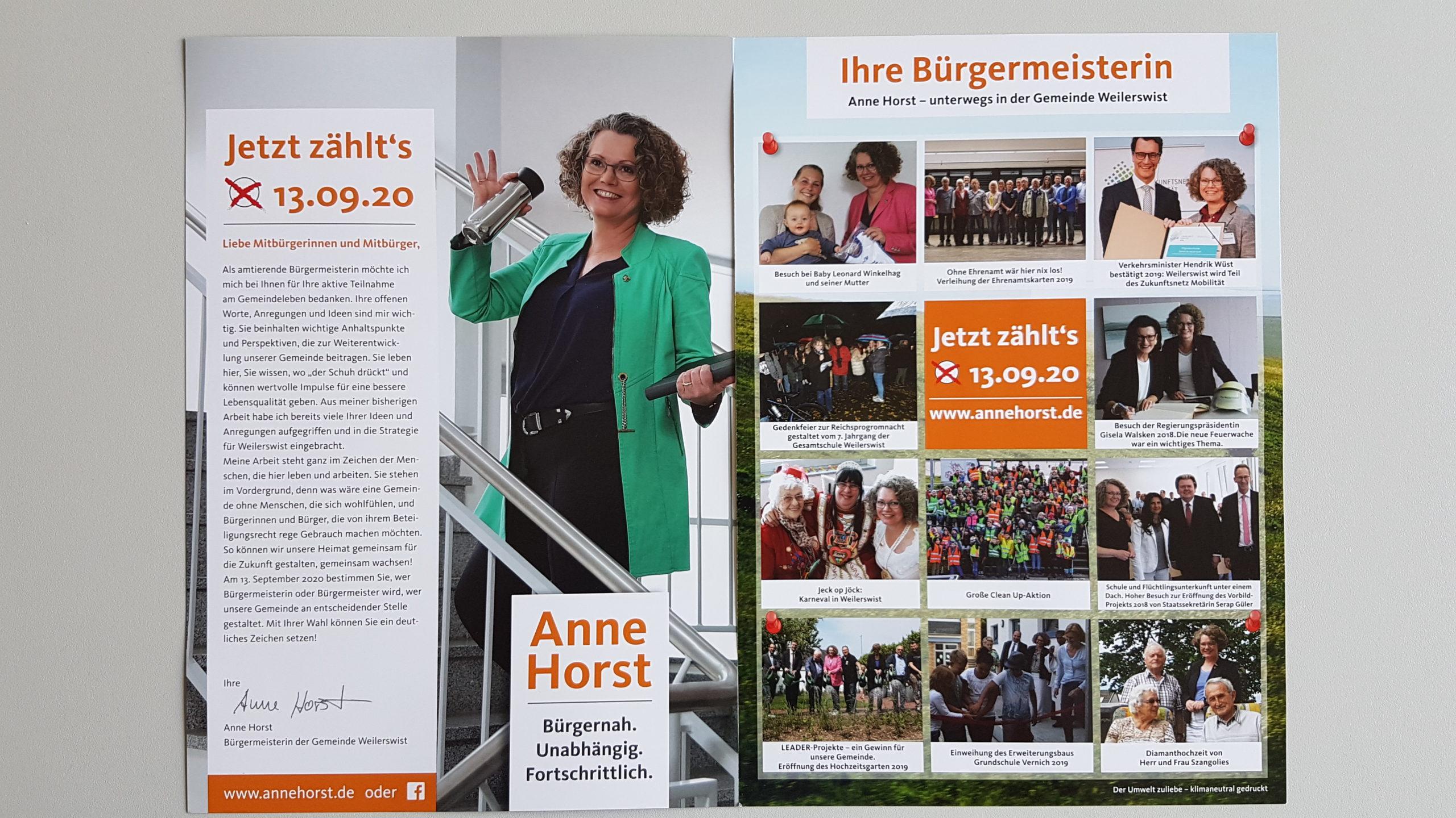 Anne Horst Bürgermeisterin Weilereswist Anna-Katharina